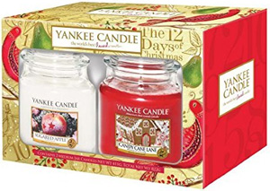 yankee candle weihnachtsgeschenke-set 12 days of christmas medium jars