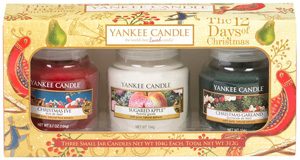 yankee candle weihnachtsgeschenke duftkerzen set 12 days of christmas yankee candle small jars
