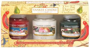 yankee candle weihnachtsgeschenke duftkerzen set 12 days of christmas yankee candle small jars